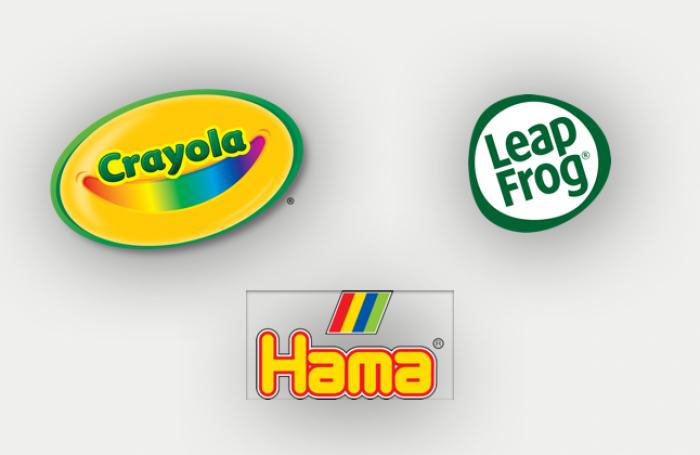 crayola leapfrog hama logos